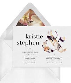 Botanical Ampersand Invitation in White Botanical Wedding Invitations, Personalised Wedding Invitations, Modern Wedding Invitations, Personalized Wedding, Online Invitations, Digital Invitations, Invitation Cards, Invites, Timeless Wedding