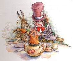 Peter Weevers illustrations of Alice in Wonderland are my favorite.