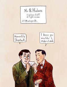 Sherlock and his brother, Mycroft. Oh, Mycroft. Sherlock Bbc, Sherlock Fandom, Watson Sherlock, Martin Freeman, Benedict Cumberbatch, Holmes Brothers, Sherlolly, Best Mysteries, Johnlock