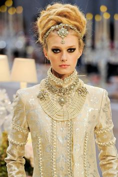 Chanel Pre-fall 2012 indian inspired head piece