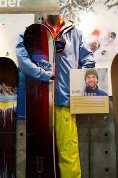 Look at one of Josh Dirksen's Patagonia kits and peek at a board from the Salomon Dirksen Collection. | 2014 Snowboard Gear from The Outdoor Retailer | TransWorld SNOWboarding
