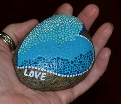 Love & the Blues, painted rocks, painted stones, etsy, BeachMemoriesByJools hand painted, aquas