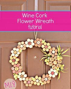 Summer Decor: Wine Cork Flower Wreath