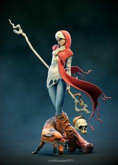 Red Riding Hood - Fan art 3D ~ Maya iDA - `Inspiring and showcasing worlds best digital art and artists.