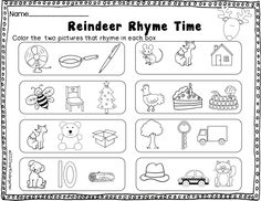 December No rRep Just Print- great activities for centers, early finishers of homework. Preschool Christmas, Christmas Crafts, Reading Mastery, Small Group Reading, Early Finishers, Kindergarten Reading, School Holidays, Winter Theme, Literacy Centers