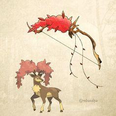 No. 586 - Sawsbuck (Autumn). #pokemon #sawsbuck #greatbow #pokeapon