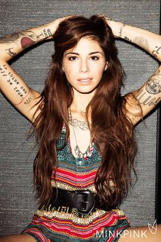 Christina Perri in a Colorful . is listed (or ranked) 7 on the list Hottest Christina Perri Photos Christina Perri, Fake Tattoo, I Tattoo, Christina Piercing, Pretty People, Beautiful People, Beautiful Figure, Beautiful Women, Gorgeous Girl
