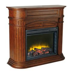 Aspen Electric Fireplace Mantel Package in Meridian Cherry - Just ...