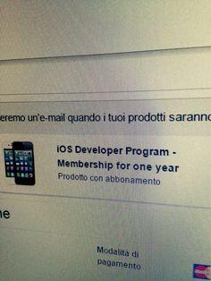 Finalmente Apple Developer! Pronti per sfornare le prime app nello store! Get ready! #webkitchen #itunes #appledeveloper