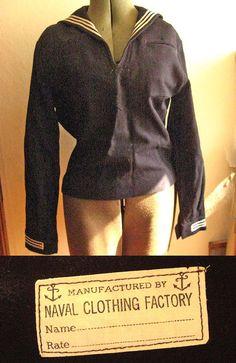 1940s Navy Uniform by carmenandginger on etsy $36
