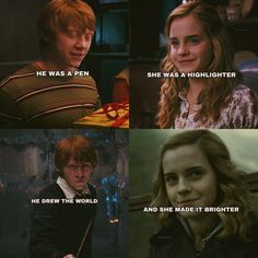 This is so painfully cheesy but of course still great😂 I hate Ron and Hermione being together I would love instead Hermione to end up with Draco or Harry Harry Potter Poems, Harry Potter Ron And Hermione, Harry And Ginny, Harry Potter Pictures, Harry Potter Ships, Ginny Weasley, Harry Potter Characters, Harry Potter Universal, Harry Potter Fandom