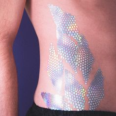 body scales iridescent holographic temporary tattoo