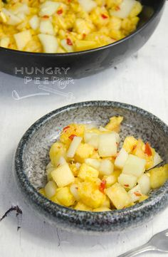 Eurasian Sambal Acar Nanas (Pickled Pineapples) | Hungry Peepor Vegan Side Dishes, Served Up, Lunch Time, Original Recipe, New Recipes, Vegan Vegetarian, Circuit, Pineapple, Snacks