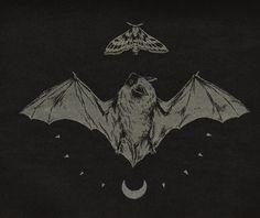 Teagan White screenprinted bat & moth patch