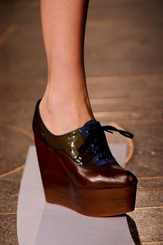 I LOVE.LOVE.LOVE this shoe by Jonathan Saunders Spring 2014.