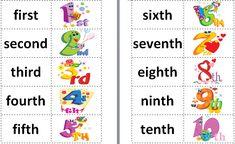 English C.E.I.P. Luis Casado: Ordinal numbers