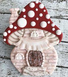 Adorable Decorated Mushroom Cookie