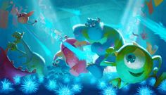 Monstres Academy - The Art of Disney Art Disney, Disney Kunst, Disney Pixar, Disney Magic, Pixar Concept Art, Disney Concept Art, Disney Monsters, Monsters Inc, Monster University