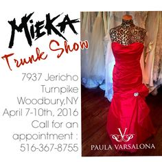 Visit with Paula at one of her exclusive trunk shows! For a list of upcoming opportunities click for a full listing!