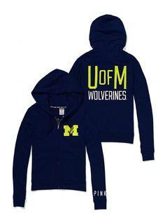 PINK University of Michigan Perfect Full Zip Hoodie #VictoriasSecret http://www.victoriassecret.com/pink/university-of-michigan/university-of-michigan-perfect-full-zip-hoodie-pink?ProductID=109306=OLS=true?cm_mmc=pinterest-_-product-_-x-_-x