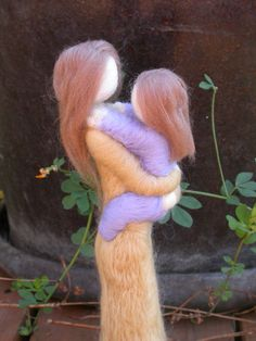 Made to Order Needle Felted Mother and Child by radishwoolworks