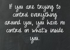 You can only control your actions. That's all that matters. #sticktoyourself
