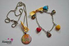 Collar + Pulsera Virgencita Colores #3