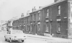 Black and white photograph showing Park Road, St. PH - Photographic collections 17 - Photographic collections that were created by individual depositors 3 - Black and white photographs showing various streets in St. St Helens Town, Saint Helens, Family Album, The Old Days, Family History, 1960s, Old Things, Photographs, Street View