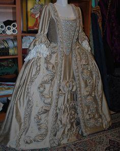 taupe-robe-a-la-francaise-done-1- Starlight Masquerade