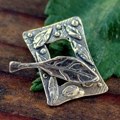 Toggle Leaf Sterling Silver Artisan /T167 by thehappyjewel on Etsy https://www.etsy.com/listing/54445447/toggle-leaf-sterling-silver-artisan-t167