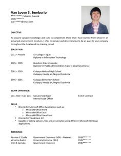 Sample Resume Sample Resume Template For Job Application Example