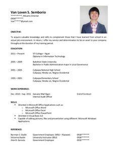 Resume Format Sample Cv Format Cv Resume Application