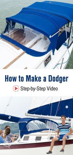 Released from the Sailrite vault! Follow in-depth, step-by-step video instructions & sew your own DIY dodger/sprayhood.