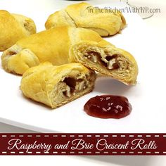 Raspberry and Brie Crescent Rolls #recipe #appetizer www.InTheKitchenWithKP