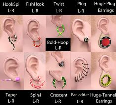 Mod The Sims - Piercings. The Sims, Sims Cc, Piercing Tattoo, Ear Piercings, Sims 3 Mods, Ear Tapers, Bold Bold, Second Piercing, Best Sims