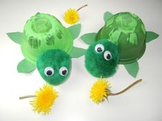 Pond Theme: Fruit Cup Turtle Craft