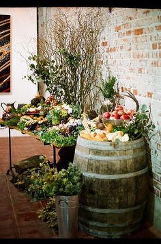 Rustic Table Display by Main Course California, via Flickr