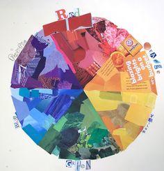 colour wheel collage