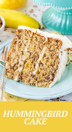This Hummingbird Cake is tender, moist and delicious! An easy cake recipe full of banana, pineapple, pecans and spices, then covered in cream cheese frosting. Brownie Recipes, Cheesecake Recipes, Cookie Recipes, Dessert Recipes, Cheesecake Brownies, Fudge Brownies, Cupcake Recipes, Fun Easy Recipes, Sweet Recipes