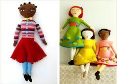 d.i.y day : hand sewn felt dolls