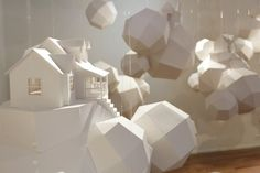 """Nicki Crock is a conceptual artist currently working in Columbus, Ohio, but her head is in the clouds. Her installation series """"Dream House"""" transforms space into an ethereal, geometric…"""