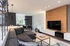 Grey and Wood Apartment 02 850x567 OOOOX Designs an Elegant Apartment in Prague, Czech Republic