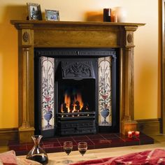 stovax poppy u0026 wheatsheaf tiled front with regency antique pine mantel