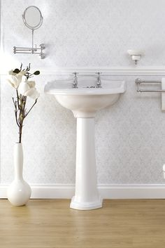 Edwardian basin (one/two/three hole) + Pedestal | Perrin and Rowe