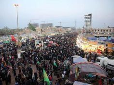 Millions of Shia Muslims have taken part in one of the biggest marches in the world, as they travel throughIraq in celebration of a famous Muslim martyr.