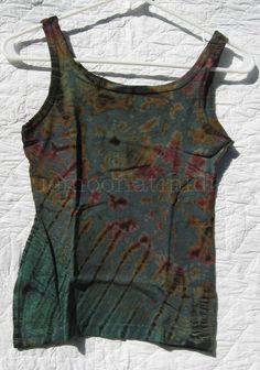 Green Cotton Knit Tank Top Shirt Tie Dye Hippie Festival Boho Size XS NWOT #CottonClubs #KnitTop #Casual