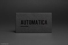 FPO: RockDesign's Automatica Business Card