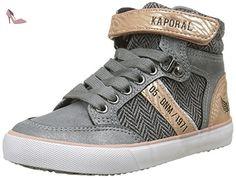 Kaporal Trumb, Sneakers Hautes Garçon, Gris, 34 EU