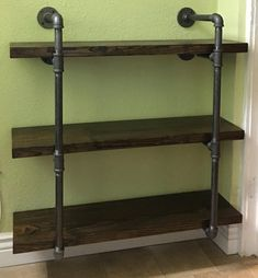 Items similar to Industrial Iron Pipe Shelving Brackets Set of 2 on Etsy Furniture, Wood, Shelves, Industrial Drafting Tables, Iron, Diy Home Decor, Industrial Irons, Shelf Brackets, Shelving