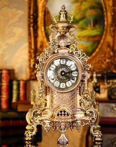 Mantel Clock Antique Vintage Retro Style Decorative Table Clock Home Decor  Lclock1288 A143